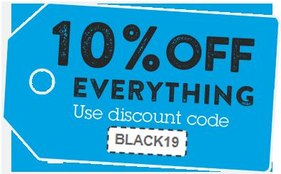Discount code #BlackFriday