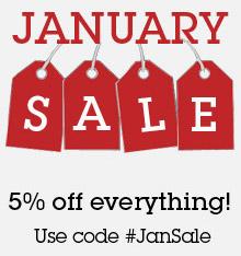 Use discount code #JanSale