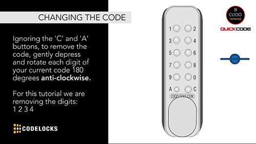 How to change the code using QuickCode