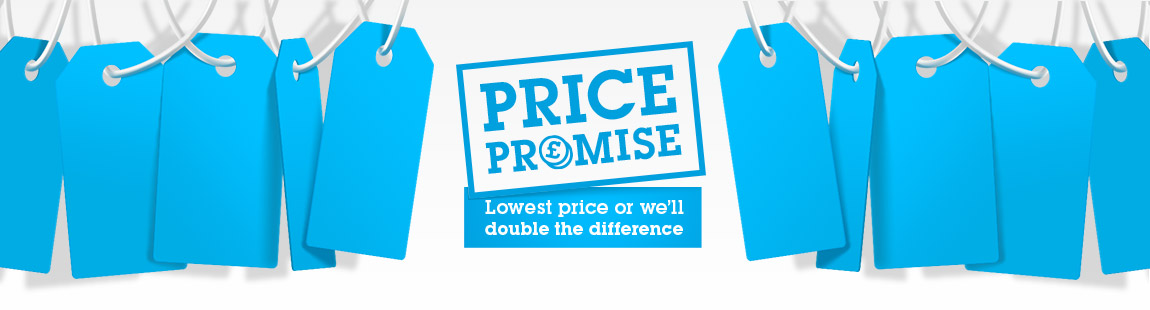 Price Promise: lowest price or we'll double the difference