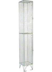 RMP 2 Door - Extra Deep Wire Mesh Locker