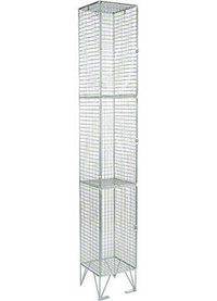 RMP 3 Door - Extra Deep Wire Mesh Locker