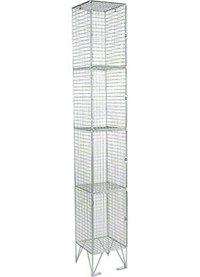 RMP 4 Door - Extra Deep Wire Mesh Locker