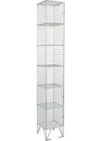 RMP 6 Door - Extra Deep Wire Mesh Locker