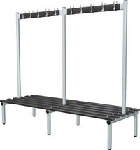 Probe 2000mm Double Sided Hook Bench (Black Polymer)