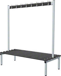 Probe 1500mm Double Sided Hook Bench (Black Polymer)