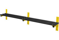 Probe 2000mm Wall Mounted Bench (Black Polymer)