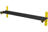 Probe 1500mm Wall Mounted Bench (Black Polymer)