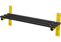 Probe 1000mm Wall Mounted Bench (Black Polymer)