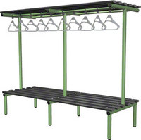 Probe 2000mm Double Sided Overhead Bench (Black Polymer)