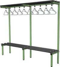 Probe 2000mm Single Sided Overhead Bench (Black Polymer)