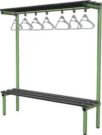 Probe 1500mm Single Sided Overhead Bench (Black Polymer)