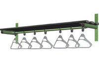 Probe 1500mm Wall Mounted Shelf & Rail (Black Polymer)