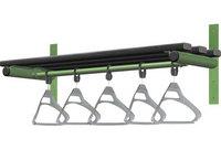 Probe 1000mm Wall Mounted Shelf & Rail (Black Polymer)