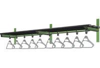 Probe 2000mm Wall Mounted Shelf & Rail (Black Polymer)