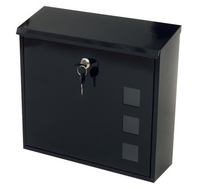 G2 Post Boxes Aire Black - Steel Post Box
