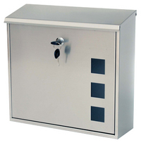 G2 Post Boxes Aire - Stainless Steel Post Box