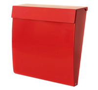 G2 Post Boxes Calder Red - Steel Post Box