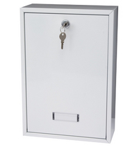 G2 Post Boxes Forth White - Rear Access Steel Post Box