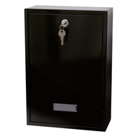 G2 Post Boxes Forth Black - Rear Access Steel Post Box