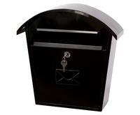 G2 Post Boxes Humber Black - Steel Post Box