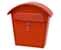 G2 Post Boxes Humber Red - Steel Post Box