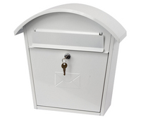 G2 Post Boxes Humber White - Steel Post Box