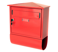 G2 Post Boxes Itchen Red - Steel Post Box