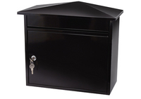 G2 Post Boxes Mersey Black - Steel Post Box