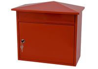 G2 Post Boxes Mersey Red - Steel Post Box