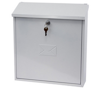 G2 Post Boxes Severn White - Steel Post Box