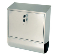 G2 Post Boxes Tees Silver - Steel Post Box