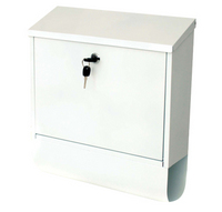 G2 Post Boxes Tees White - Steel Post Box