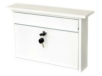 G2 Post Boxes Teme White - Steel Post Box