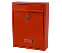 G2 Post Boxes Trent Red - Steel Post Box