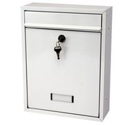 G2 Post Boxes Trent White - Steel Post Box