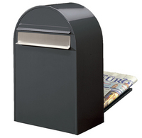 Bobi Bobi - Classic B Grey Rear Access Letter Box