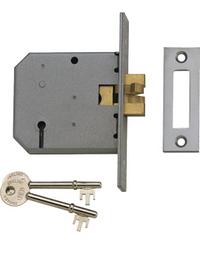 Union 2477 - 3 Lever Clawbolt Sliding Door Lock (77mm)