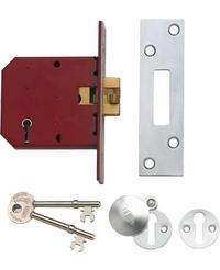 Union 2401 - 5 Lever Clawbolt Sliding Door Lock (78mm)