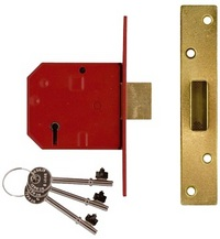 Union 2134E - BS 5 Lever Deadlock (79mm)