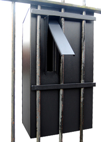 G2 Post Boxes Black Railings Post Box