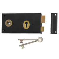 Union 1465 - Double Handed 3 Lever Rimlock (140mm) - L/H