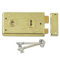Asec 1 Lever Double Handed Flanged Rimlock (140mm)