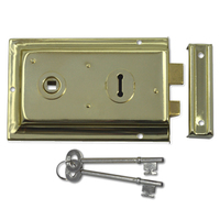Asec 1 Lever Double Handed Flanged Rimlock (150mm)