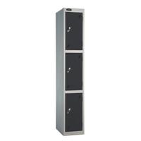 Probe 3 Door - Extra Wide Black Locker