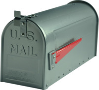G2 Post Boxes US Mailbox - Silver Aluminium