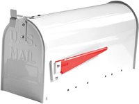 G2 Post Boxes US Mailbox - White Aluminium