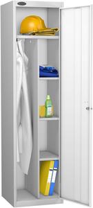 Probe White Uniform Locker