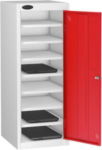 Probe Eight Bay Red Laptop Locker