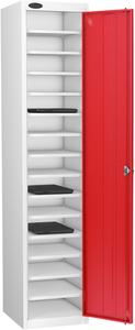 Probe Fifteen Bay Red Laptop Locker